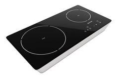 Stufa portatile mobile di Cooktop di induzione rappresentazione 3d Immagine Stock