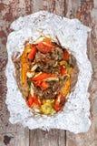 Stufato di pollo con le verdure Fotografia Stock Libera da Diritti