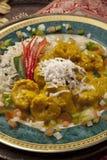 Stufato di pollo indiano Fotografia Stock