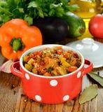 Stufato di verdure vegetariano fotografie stock