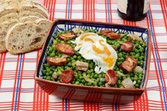 Stufato tradizionale portoghese del alimento-pisello Fotografia Stock