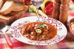 Stufato ungherese del goulash di manzo Fotografie Stock