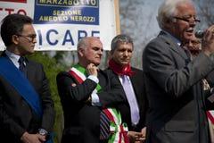 Stufe diplomatisch bei 25. April 2010 Italien, marzabotto Stockfotografie