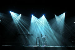 Stufe mit hellen Leuchten Stockfotografie