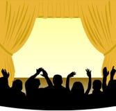 Stufe und Publikum Stockfotografie