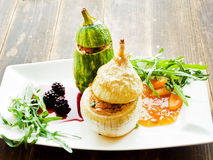 Stufed onion and zucchini Royalty Free Stock Photo