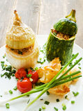 Stufed onion and zucchini Royalty Free Stock Images
