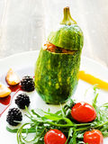 Stufed zucchini with sauce Royalty Free Stock Photography