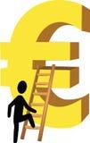 Stufen Sie den Euro ein Stockfoto