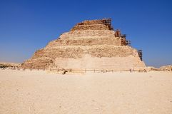 Stufenpyramide in Sakkara, altes Ägypten stockbild