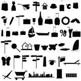 Stuff black vector silhouette and more Royalty Free Stock Photography