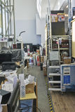 Stuff chaos room of electronic  service Stock Images