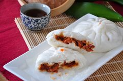 Stuff Of Red Pork Bun Royalty Free Stock Photo