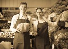 Stuff selling sweet pumpkin Stock Image