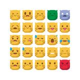 Cute Cat emojis emoticon smiley set vector isolated. This stuff suitable with your content also make it stand out royalty free illustration
