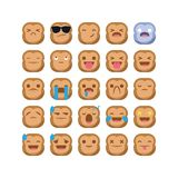 Cute Monkey emoji emoticon reaction expression smiley set vector isolated vector illustration