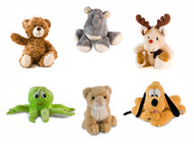 Stuff toy collage Royalty Free Stock Images