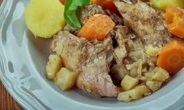 Stuffat tal-Fenek. National dish of Malta Royalty Free Stock Images