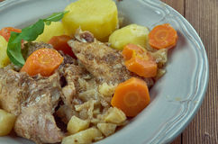 Stuffat tal-Fenek. National dish of Malta Stock Photo