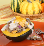 Stuffed Acorn Squash Stock Image