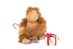 Stuffed animal for Christmas Royalty Free Stock Photo