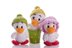 Stuffed animal duck chicks Royalty Free Stock Image