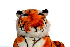 Stuffed animal tiger toy isolated Royalty Free Stock Photography