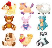 Stuffed animals Stock Images
