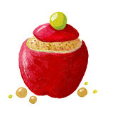 Stuffed apple Royalty Free Stock Image