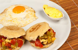 Stuffed arepas Royalty Free Stock Images