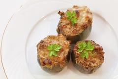 Stuffed artichoke gratin Royalty Free Stock Images