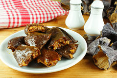 STUFFED AUBERGINE Stock Photo