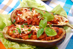 Stuffed aubergine Stock Images