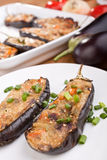 Stuffed aubergines Royalty Free Stock Photo