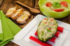 Stuffed avocado Royalty Free Stock Photography