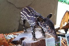 Stuffed baby tapir Royalty Free Stock Photography