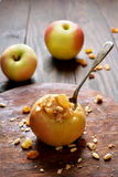 Stuffed, baked apple Royalty Free Stock Images