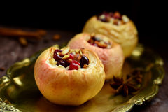 Stuffed baked apples Royalty Free Stock Photos