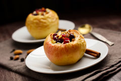 Stuffed baked apples Stock Image