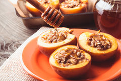 Stuffed Baked Peaches Royalty Free Stock Image