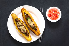Stuffed Baked Plantains Royalty Free Stock Photography