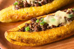 Stuffed Baked Plantains Stock Images