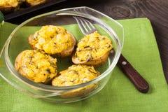 Stuffed baked potato Stock Images