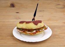 Stuffed Baked Potato sandwich Royalty Free Stock Photography
