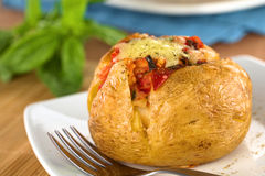 Stuffed Baked Potato Royalty Free Stock Photography