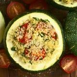 Stuffed Baked Zucchini Royalty Free Stock Image