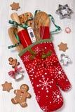 Stuffed baking mitt Stock Photos