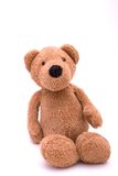 Stuffed bear. Stuffed toy bear, isolated on a white background Stock Photos