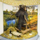 A stuffed bear and  badger. Stock Photos