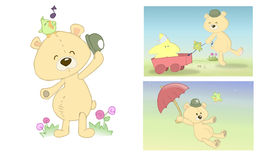 Stuffed bear page royalty free stock photos